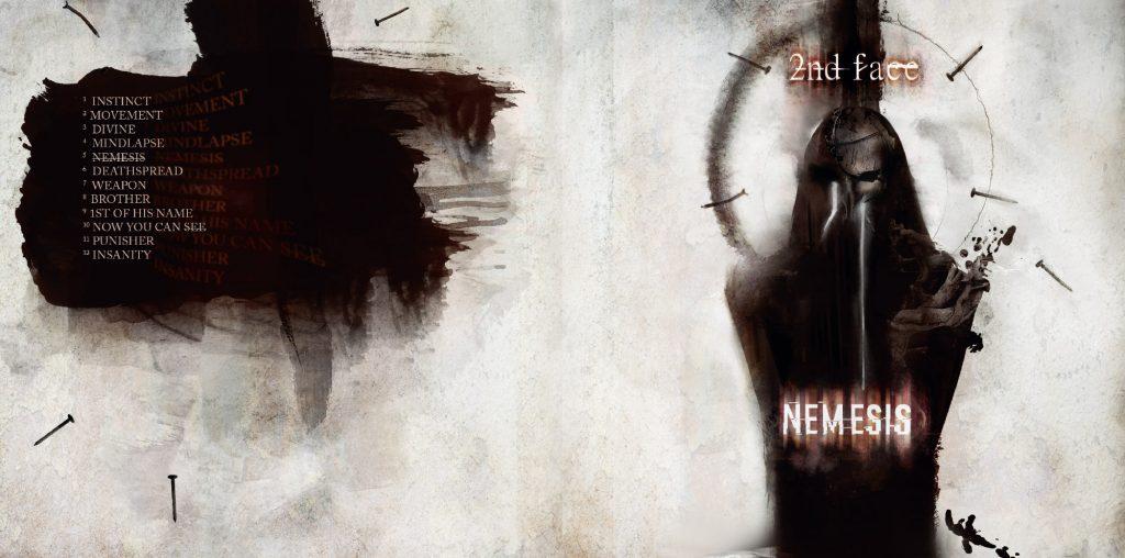 digipack design für die band 2nd face - digitale illustration