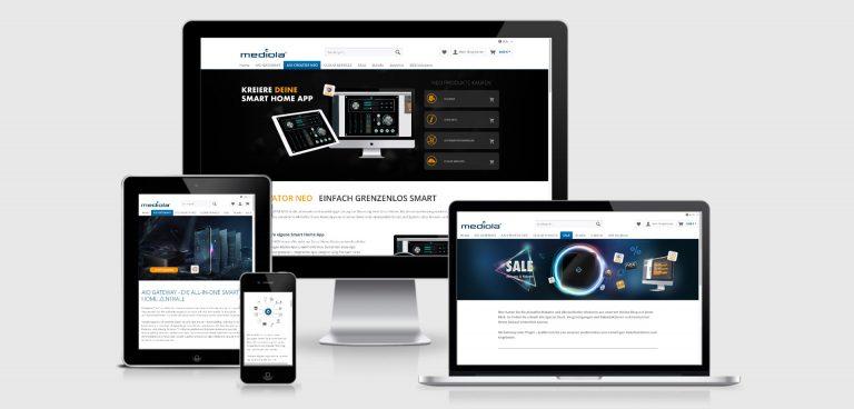 shopware webdesign für mediola