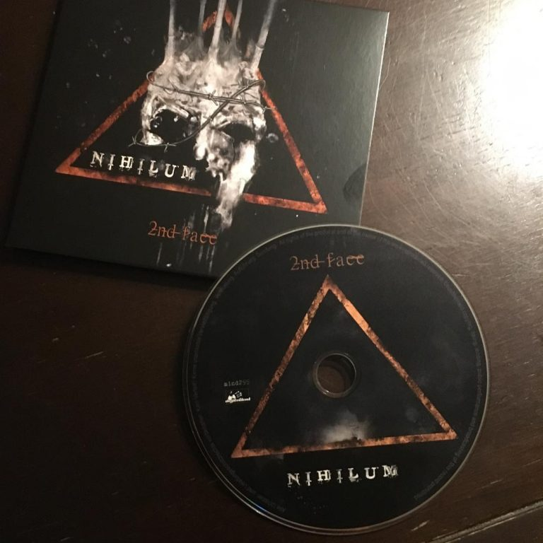 nihilum 2nd face ep cover and cd